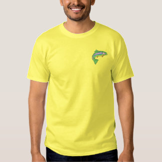Rainbow Trout Embroidered T-Shirt