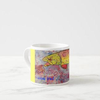 rainbow trout espresso mug