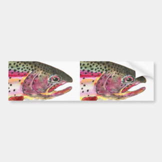 Rainbow Trout Fish Bumper Sticker