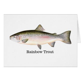 Rainbow Trout Fish Greeting Card