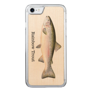 Rainbow Trout Fish Carved iPhone 7 Case