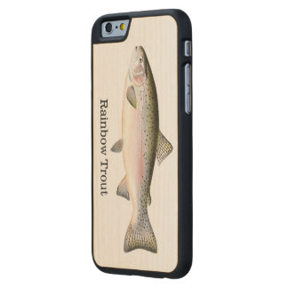 Rainbow Trout Fish Carved® Maple iPhone 6 Slim Case