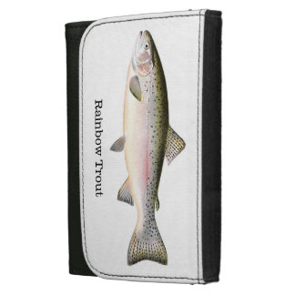 Rainbow Trout Fish Leather Wallet For Women