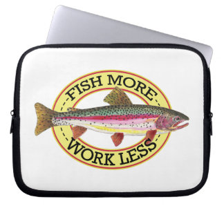 Rainbow Trout Fishing Laptop Computer Sleeve