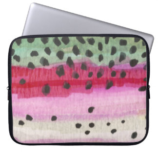 Rainbow Trout Fishing Laptop Computer Sleeves