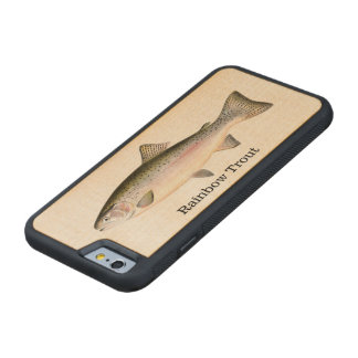 Rainbow Trout Fishing Maple iPhone 6 Bumper Case