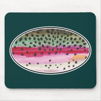 Rainbow Trout Fishing Mouse Pad