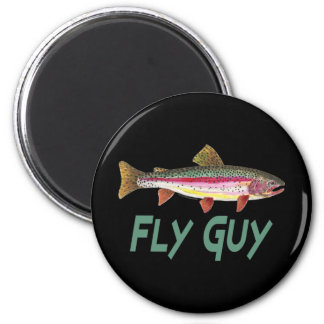 Rainbow Trout Fly FIshing 2 Inch Round Magnet