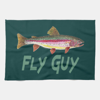 Rainbow Trout Fly FIshing Kitchen Towel