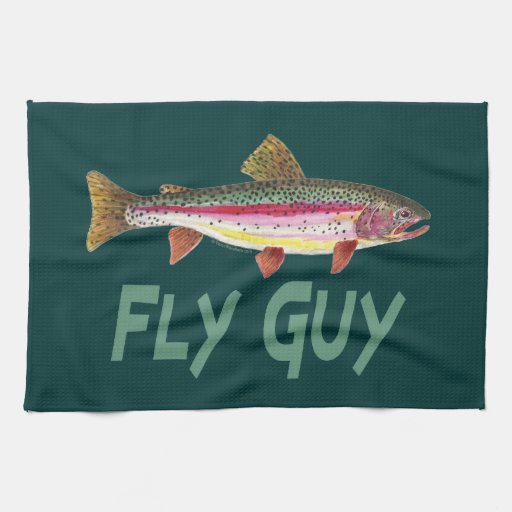 Rainbow Trout Fly FIshing Towels