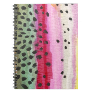 Rainbow Trout Fly Fishing Log Spiral Notebook