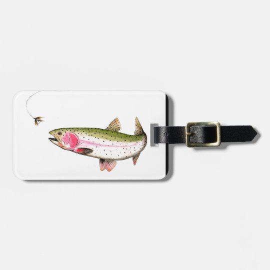Rainbow Trout Fly Fishing Luggage Tag