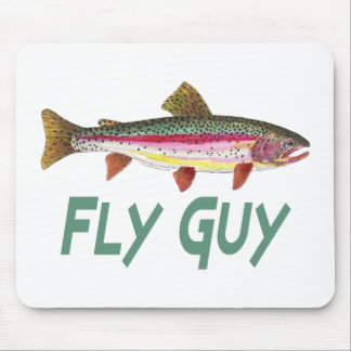 Rainbow Trout Fly Fishing Mouse Pad