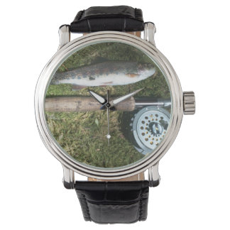 rainbow trout, fly fishing rod & reel watch