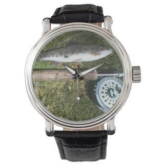 rainbow trout, fly fishing rod & reel watch