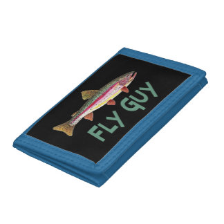 Rainbow Trout Fly Fishing Tri-fold Wallet
