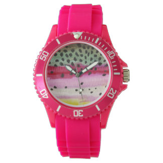 Rainbow Trout Fly Fishing Wrist Watches