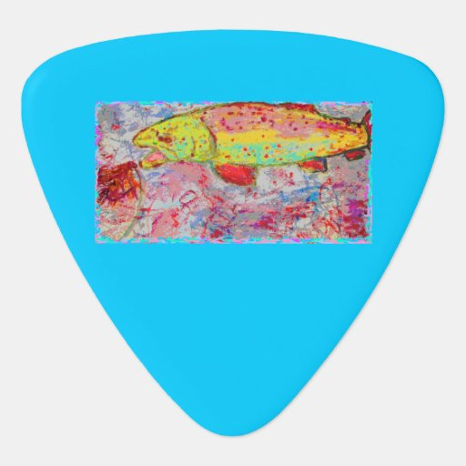 rainbow trout guitar pick