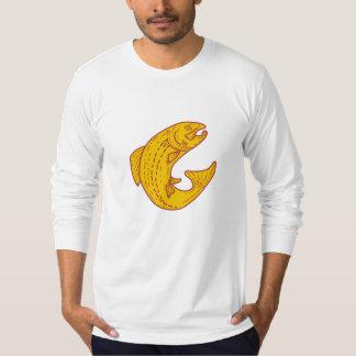 Rainbow Trout Jumping Mono Line T-Shirt
