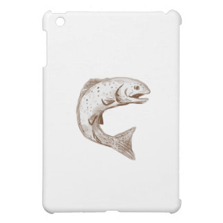 Rainbow Trout Jumping Watercolor iPad Mini Case