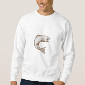 Rainbow Trout Jumping Watercolor Sweatshirt