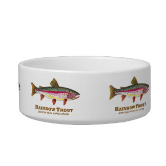 Rainbow Trout Latin Cat Bowls
