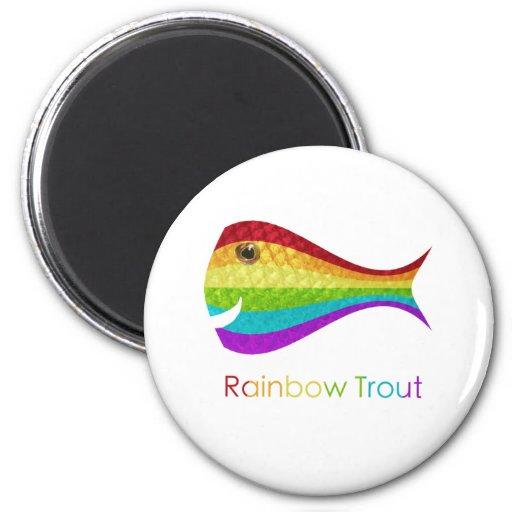 Rainbow Trout Fridge Magnet