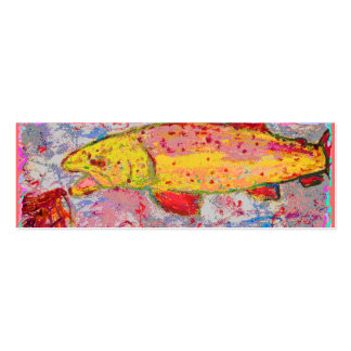 rainbow trout mini business card