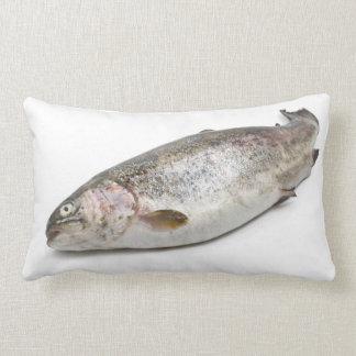 rainbow trout throw pillows