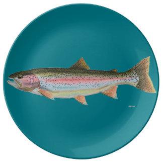 Rainbow Trout Porcelain Plates