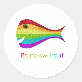 Rainbow Trout Round Sticker