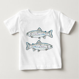 Rainbow Trout Sketch Baby T-Shirt