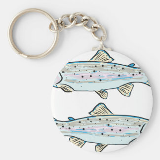 Rainbow Trout Sketch Keychain