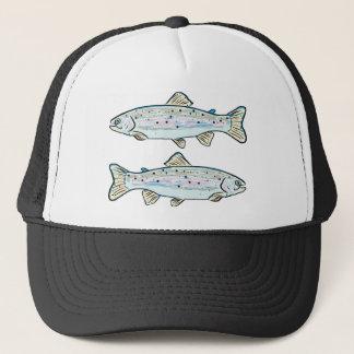 Rainbow Trout Sketch Trucker Hat