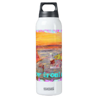 rainbow trout sunset SIGG thermo 0.5L insulated bottle