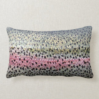 Rainbow Trout Throw Pillow by Patternwear©