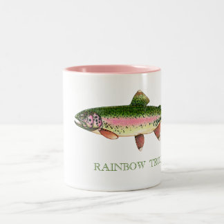RAINBOW TROUT Two-Tone COFFEE MUG