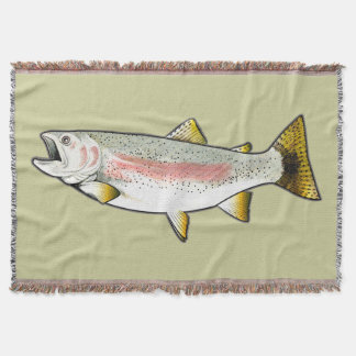 Rainbow Trout Throw Blanket
