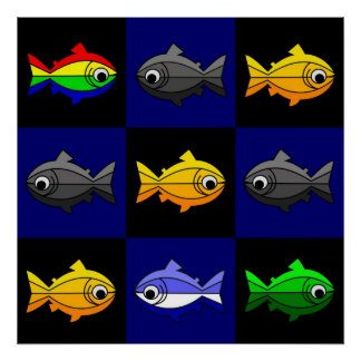 Rainbow Trouts Poster