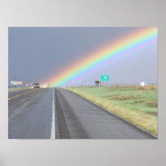 Rainbow Trucks Poster