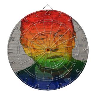 Rainbow Trump Dartboard