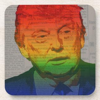 Rainbow Trump Drink Coaster
