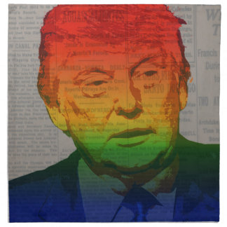 Rainbow Trump Napkin