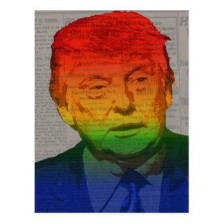 Rainbow Trump Postcard