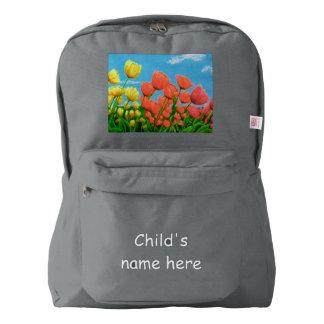 Rainbow Tulips Backpack