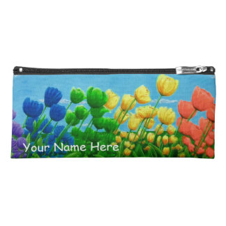 Rainbow Tulips Pencil Case