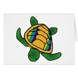 Rainbow Turtle Card