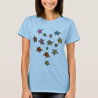 Rainbow Turtle Heart T-Shirt