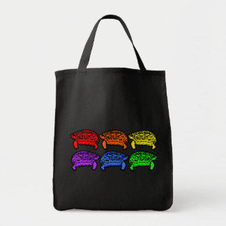 Rainbow Turtles Grocery Bag