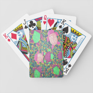 Rainbow Turtles on The Rocks Bicycle Playing Cards